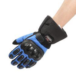 Teplé motorkářské rukavice s nepromokavou úpravou