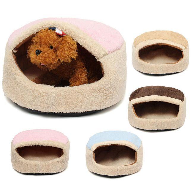 Теплый и удобный домик для маленьких собак или кошек 1