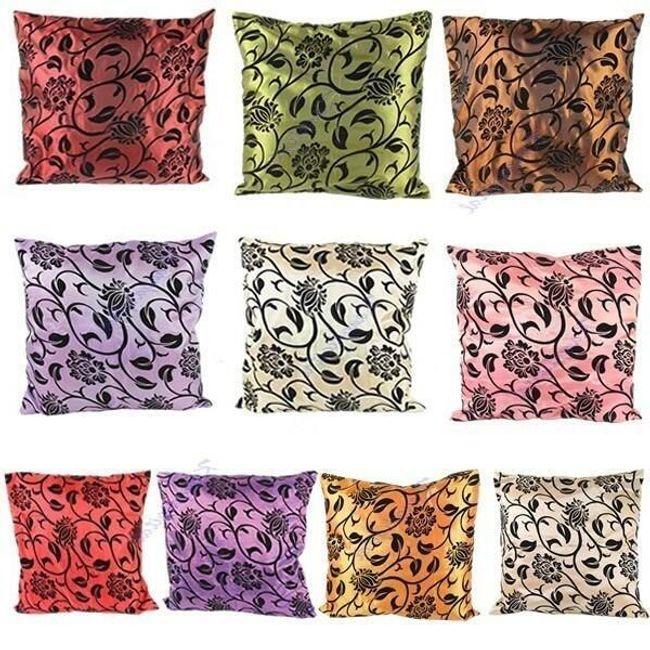 Poszewka na poduszkę z kwiatami - kilka kolorów 1