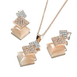 Geometrická sada šperků