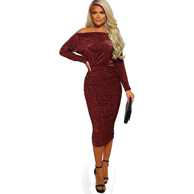 Damska sukienka z długimi rękawami Hannie 1