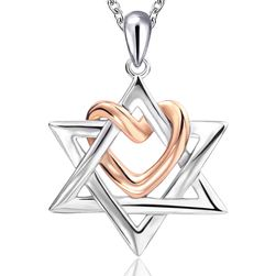Ogrlica - Davidova zvezda sa srcem