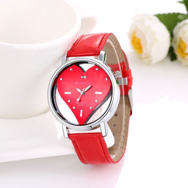 Dámské hodinky se srdcovým ciferníkem - 3 varianty 1