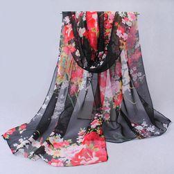 Damska chusta - kwiaty