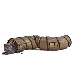 Hnědý tunel na hraní pro kočky