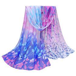 Dámský šátek s motivy duhových lístků