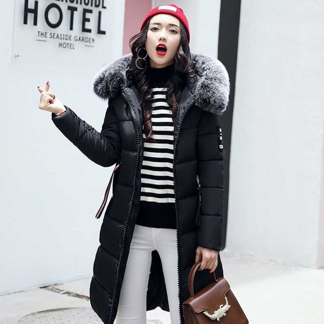 Dlouhá zimní bunda Agnes - Černá-S 1