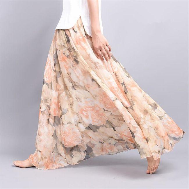 Lehoučká a vzdušná letní sukně - Varianta 4 - Délka sukně 90 cm 1