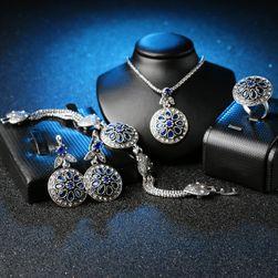 Sada šperků s krystalky ve tvaru květin