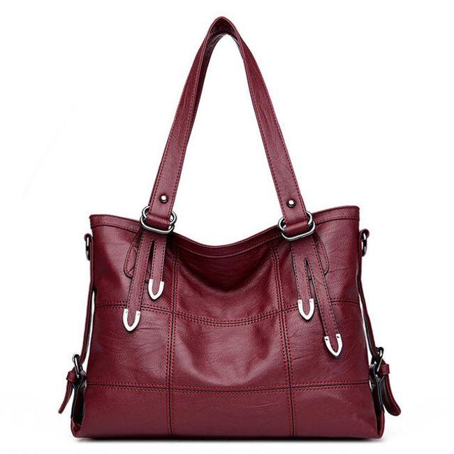 Velká dámská kabelka- Vínová 1