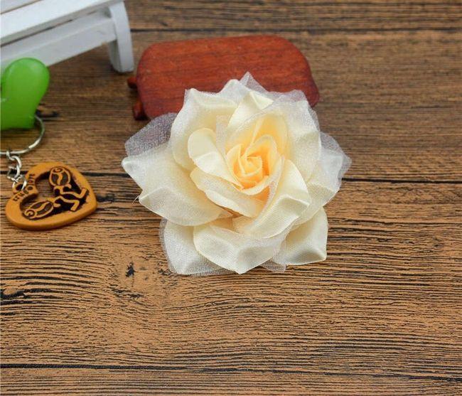 Trandafiri decorativi din material textil - 10 bucăți 1
