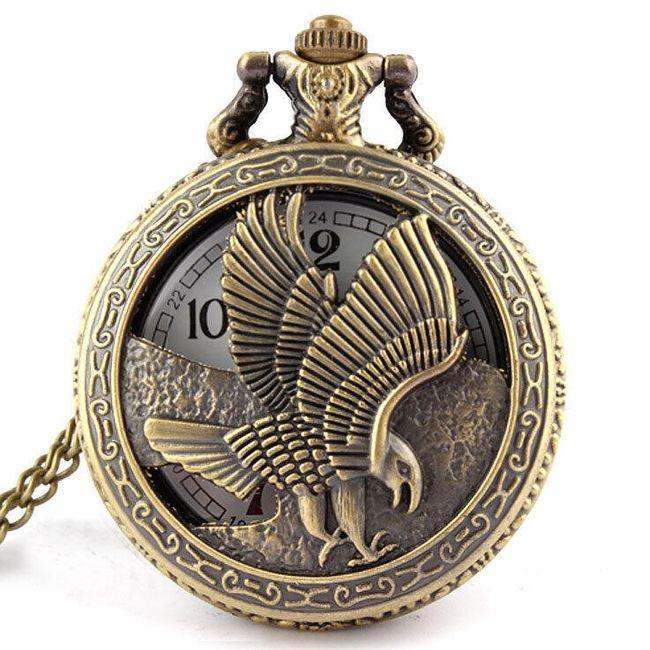 Карманные ретро-часы с орлом 1