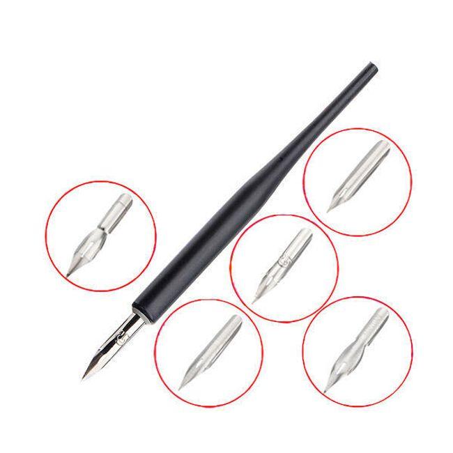 Dekorační pero na nehty s 5 různými nástavci 1