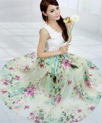 Dámská květinová maxi sukně