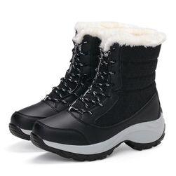 Dámske zateplené topánky s umelým kožúškom - 4 varianty Čierna-9