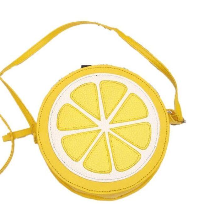 Mini kabelka v podobě citronu 1