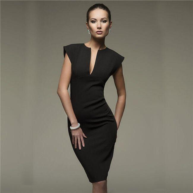 Pouzdrové šaty pro dámy - černá-velikost č. 5 1