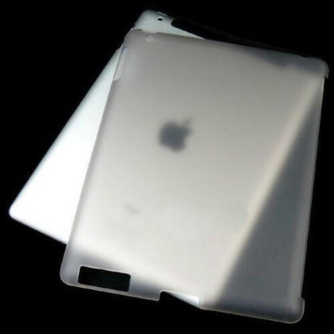 Průsvitný ochranný zadní kryt pro iPad 2 - šedý 1