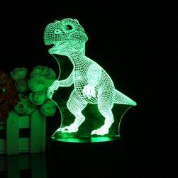 3D LED lampica - veseli dinosaurus