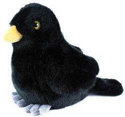 PLYŠ Ptáček kos stojící 20cm Eco-Friendly *PLYŠOVÉ HRAČKY* SR_711214