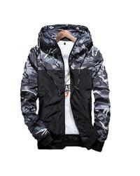 Férfi terepmintás téli kabát