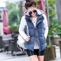 Dámská vesta s bavlněnou kapucí