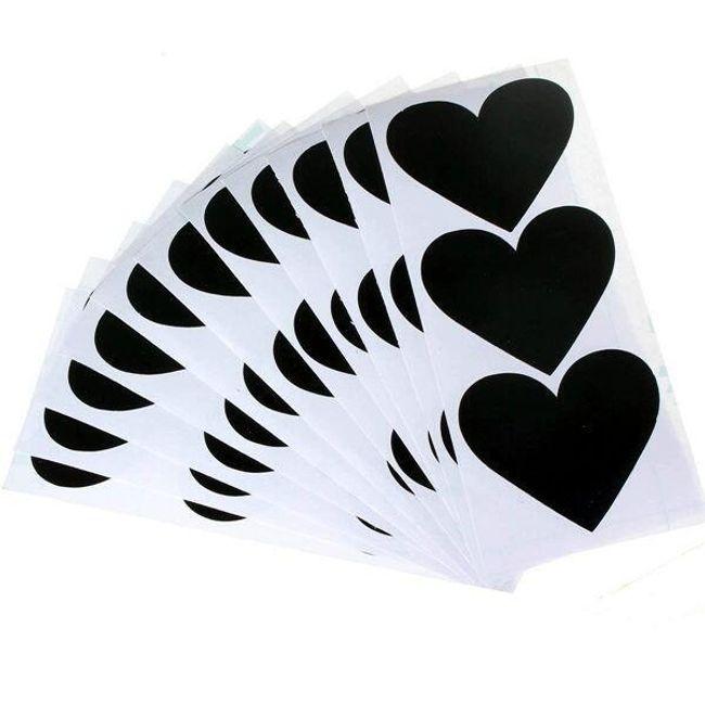 Szív alakú matricák - 36 darab 1