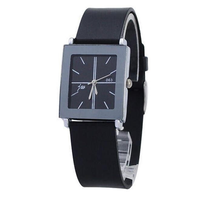 Elegancki zegarek z czarnym silikonowym paskiem 1