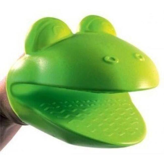 Kuchyňská silikonová chňapka žabka 1