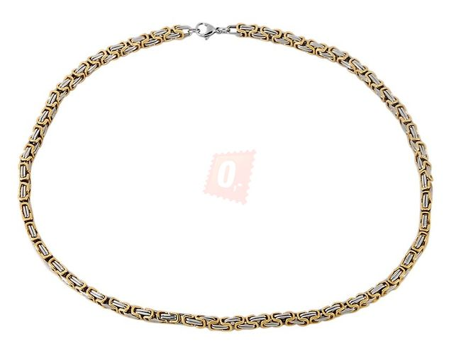 Náhrdelník, 55cm - zlatá barva 1