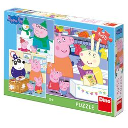 Puzzle 3x55 Prasátko Peppa RZ_335301