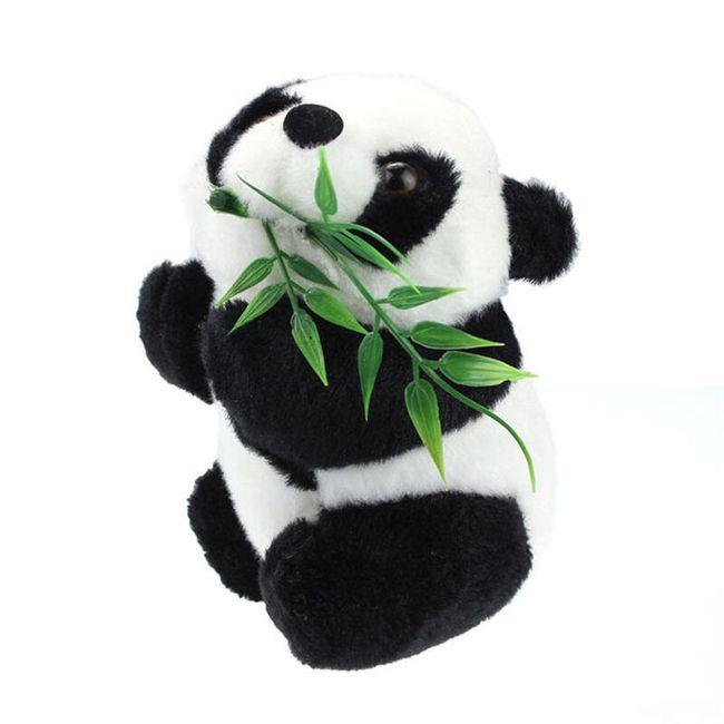 Plyšová panda s bambusem 1