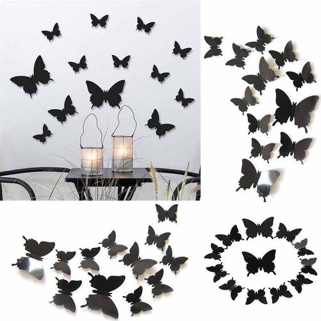 Duvar 3D kelebekler 1