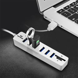 Koncentrator USB i czytnik kart - 2w1