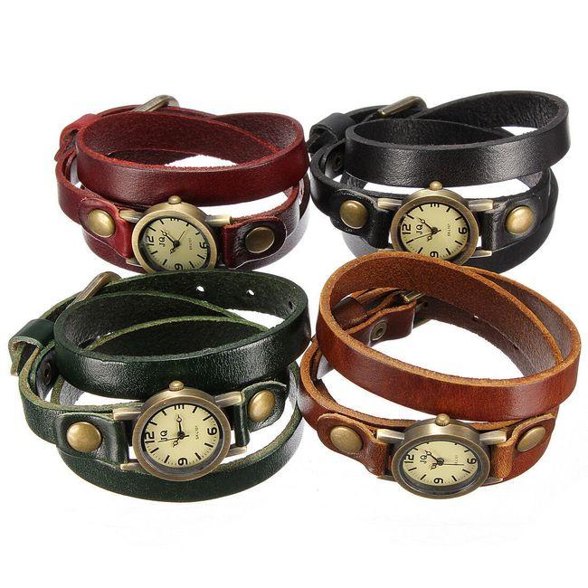Damski retro zegarek na rękę w 4 kolorach 1
