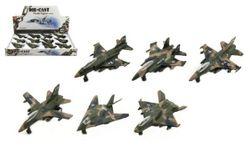 Letadlo/stíhačka vojenská kov/plast 9cm RM_00312810