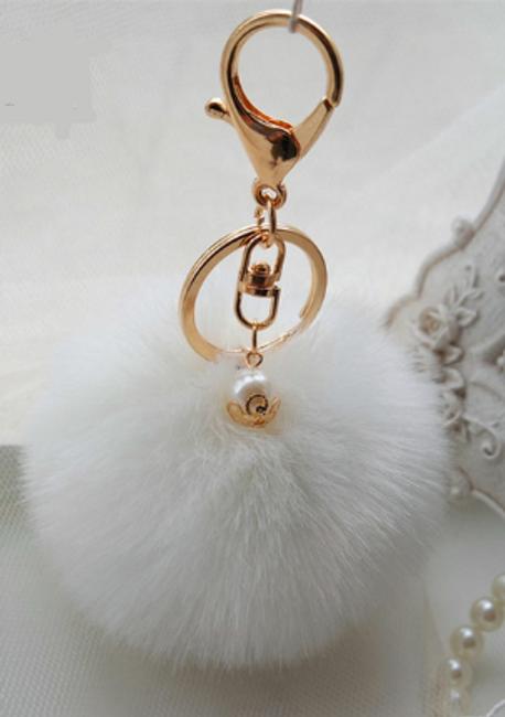 Pompon okras za torbo ali ključe 1