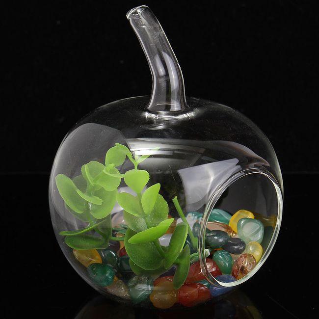 Стеклянная декоративная ваза в виде яблока 1