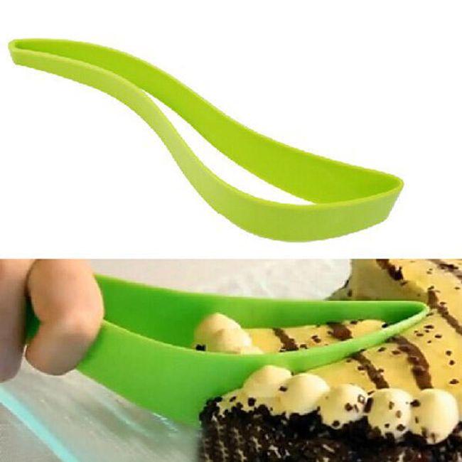 Дизайнерски нож за торта - зелен 1