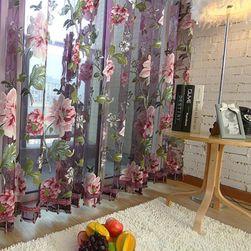 Függöny virág mintával - 2 méret