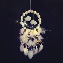 Prinzător de vise (dreamcatcher) cu lumină LED Marika