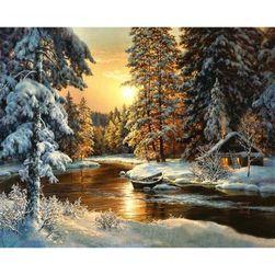 Slikanje po brojevima - zimski krajolik