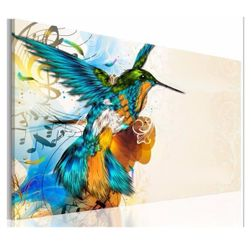 Imagine fără ramă cu pasăre colibri - 50 x 75 cm