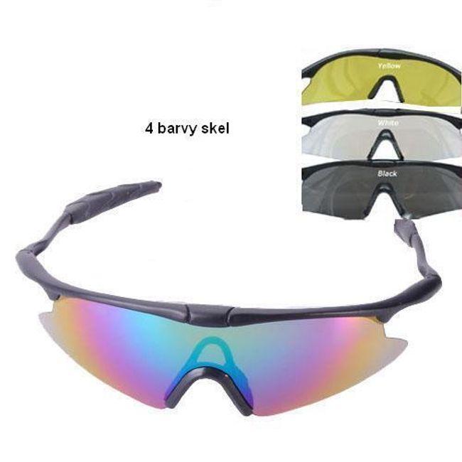 Sportovní brýle - na výběr ze 4 barevných skel 1