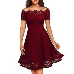 Vintage šaty s odhalenými rameny - 3 barvy