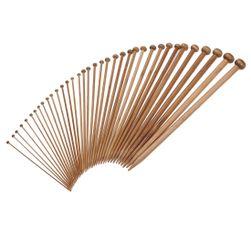 18 pár bambusz kötőtű készlet