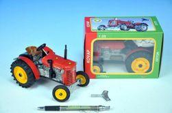 Traktor Zetor 25A Rdeča na ključu kovina 15cm 1: 25 v škatli Kovap RM_95000373