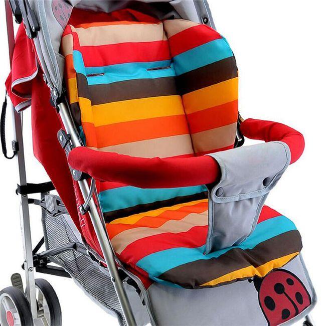 Črtasta podloga za otroški voziček 1