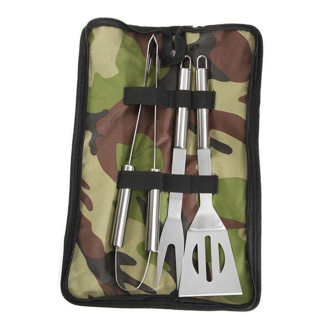 Sada kuchyňských nástrojů na BBQ grilování s obalem - 3 kusy 1