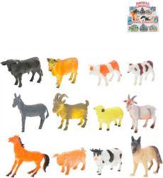 Zvířátka domácí farma 10-13cm různé druhy plast